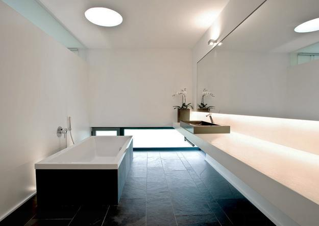 Contemporary Bathroom Lighting In Minimalist Style