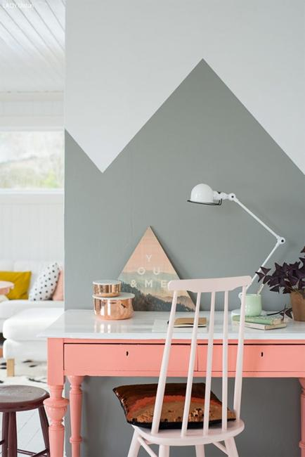 Four Ogous Paint Colors For Original Wall Decoration