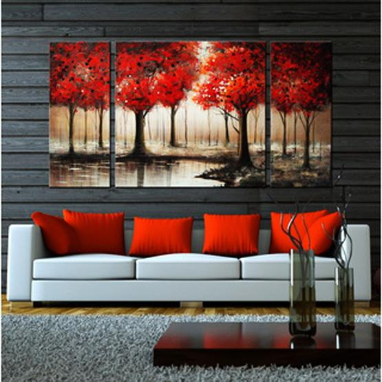 Wall Art Red Maple Trees