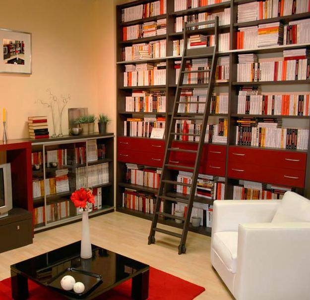 Modern Home Library Design Ideas: 25 Modern Home Library Designs With Ladders And Stairs