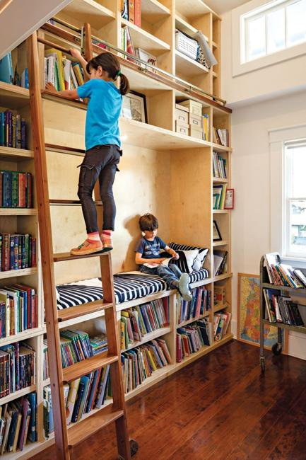 Contemporary Home Library Design: 25 Modern Home Library Designs With Ladders And Stairs