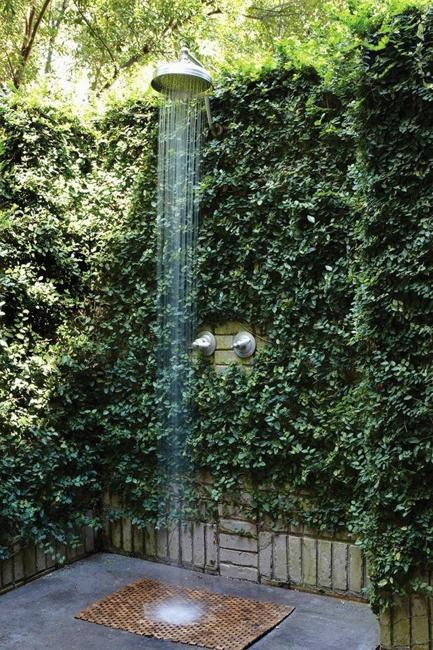 unique outdoor shower designs