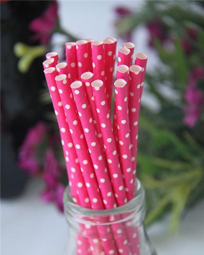 polka dots straws