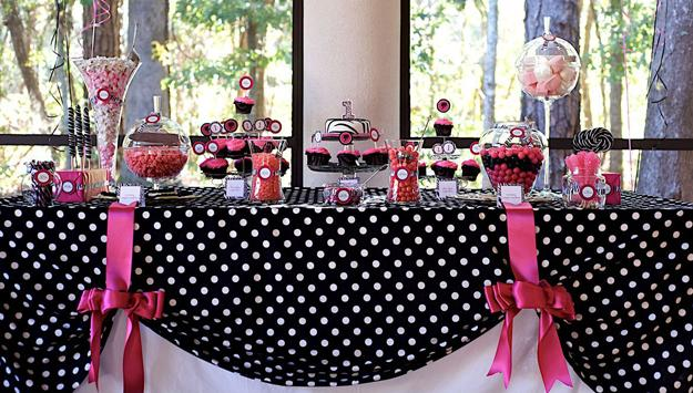 Easy Colorful Ideas Adding Polka Dots To Party Table Decoration