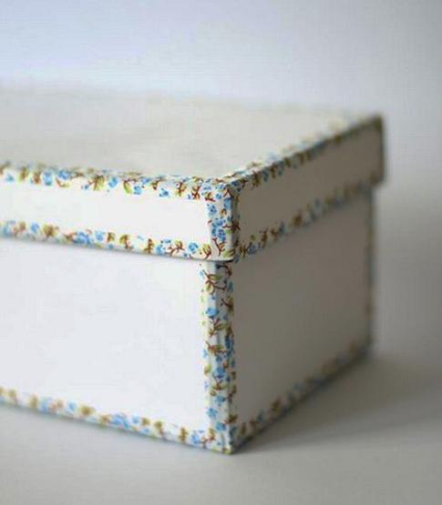 decorating storage boxes with tapes