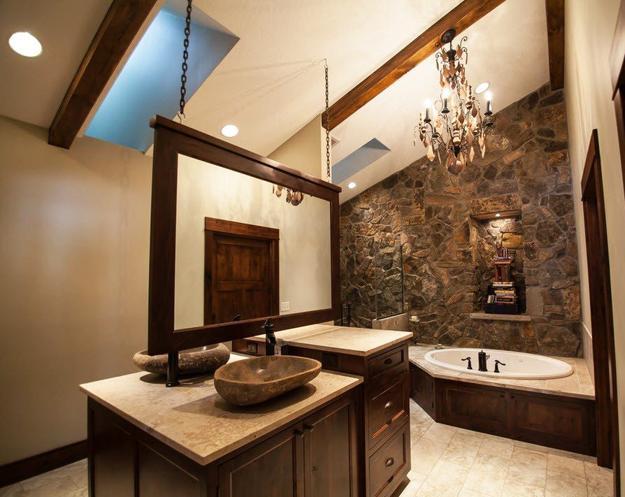 contemporary wall mirror for modern bathroom decorating