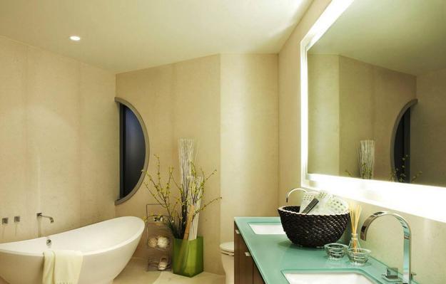 Bathroom Lighting Integrated Into Mirror Frames