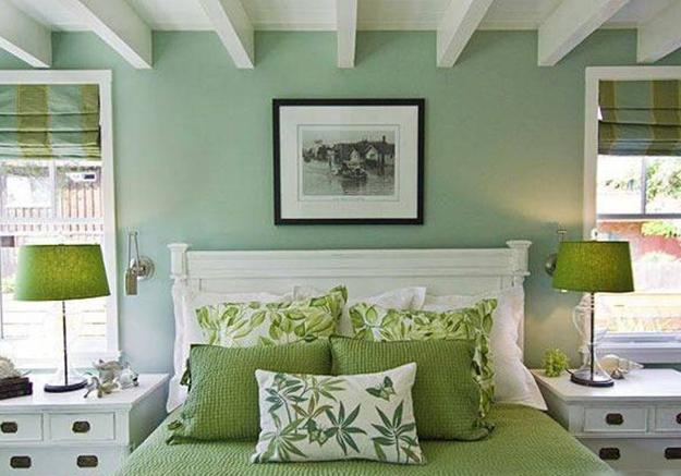 Natural green color schemes for modern bedroom and - Colors for small rooms ...