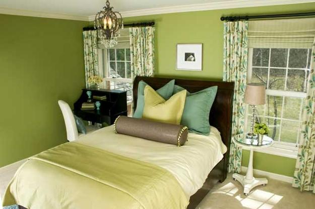 Attirant Hillside Apartment Ideas Blending Crispy White And Emerald Green Colors For  Beautiful Bedroom Design