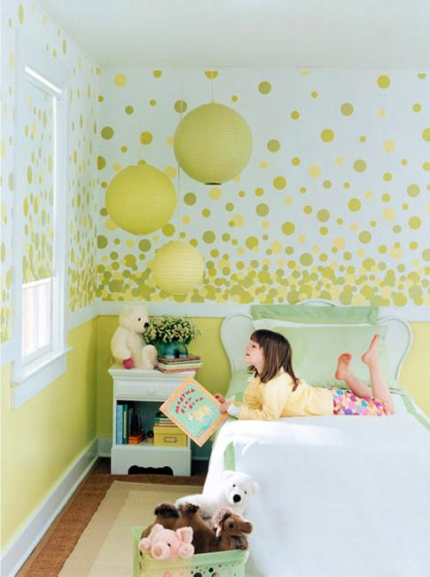 Natural Green Color Schemes for Modern Bedroom and Bathroom Decorating