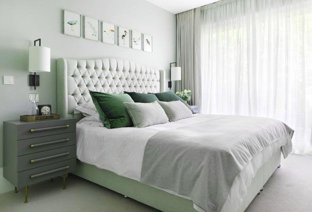 Natural Green Color Schemes for Modern Bedroom and Bathroom ...