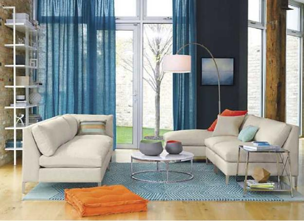 Peach Orange And Blue Color Schemes For Interior Design
