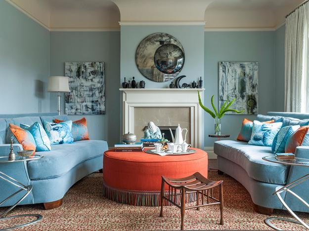 Peach Orange And Blue Color Schemes For Interior Design Inspired By