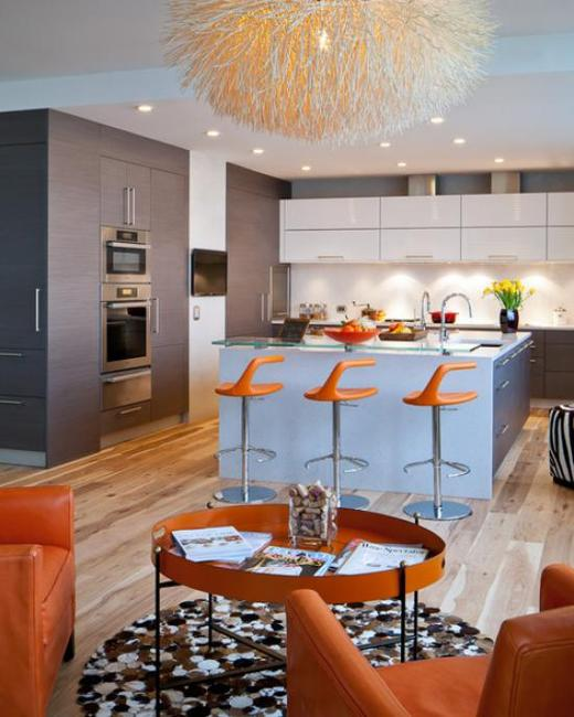 Blue And Orange Living Room Ideas: Peach Orange And Blue Color Schemes For Interior Design
