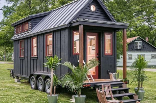 Small Cabin On Wheels With Lots Of Windows