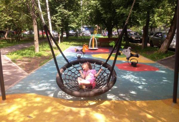 Playful Garden Furniture Swings Adding