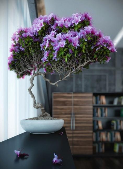 Romantic Homes Decorating: Houseplants, Green Air Filters And Bright Accents For