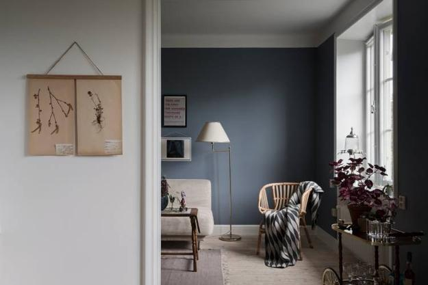 Grayish Blue And Pink Color Scheme For Beautiful Interior
