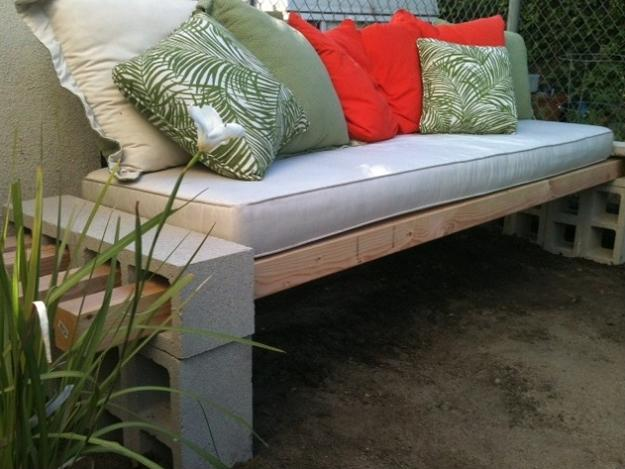 Outdoor Furniture With Concrete Blocks
