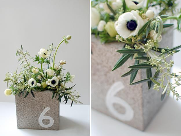 diy flower pots made with concrete blocks