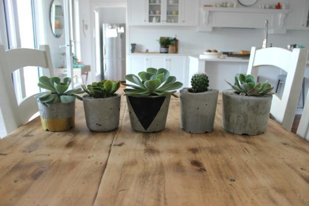 Colorful Painting Ideas For Concrete Planters Saving Money