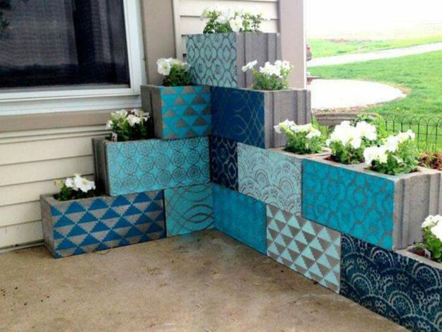 decoration patterns and bright colors for painting concrete