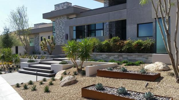 elegant metal edging offering modern solutions for low maintenance yard landscaping