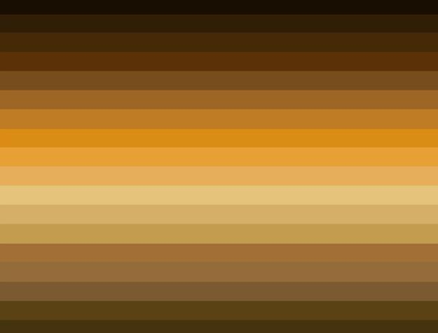 Golden Yellow And Brown Colors Representing The Earth Element