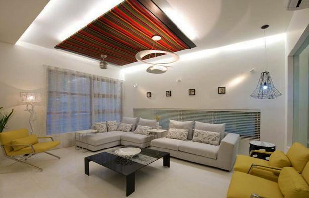 Sculptured Ceiling Design With Wood And Contemporary Led Lights