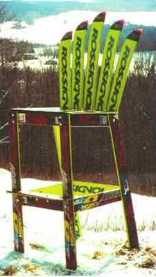 Outdoor Furniture And Yard Decorations Recycling Vintage Skis