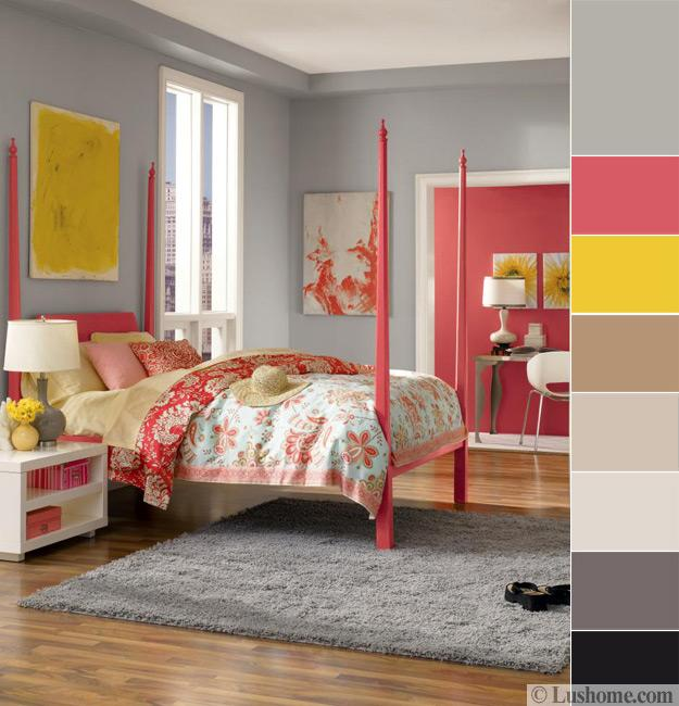 Bedroom Color Schemes Pink Bedroom Interior Design Pictures Duck Egg Blue Bedroom Furniture Simple Bedroom Paint Ideas: 8 Modern Color Trends 2018, Ideas For Creating Vibrant
