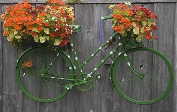 20 Diy Ideas To Recycle Bikes For Blooming Yard Decorations