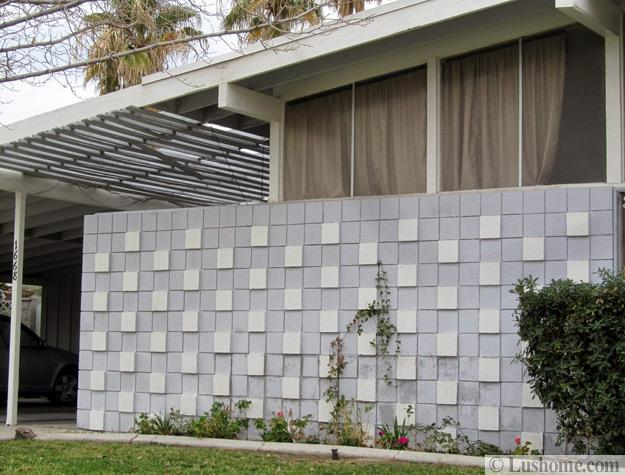 Mid Century Modern Block Wall Designs Showing Off