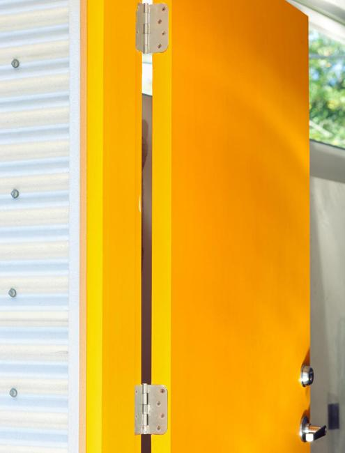 modern front door orange. Bright Yellow Door Modern Front Orange