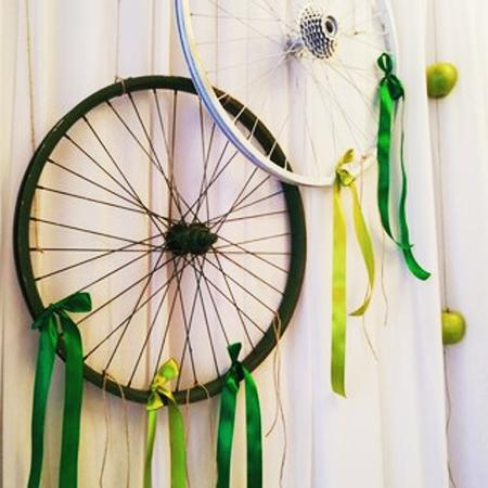 Original Recycling Ideas And Exciting Bike Wall Decorations