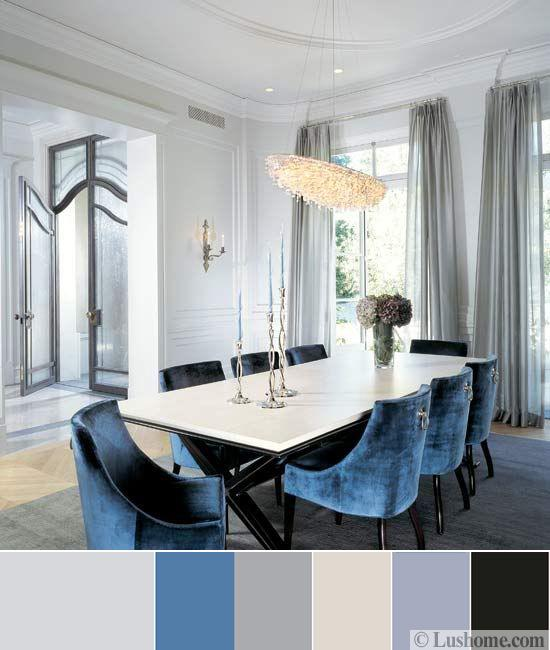 Gray Living Room Color Schemes: Blue Color Schemes For Interior Design, Inspiring