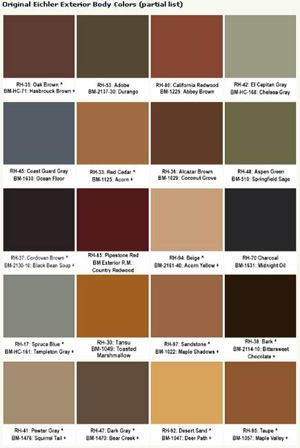 Quick guide to selecting mid century modern colors for - Colours for exterior house painting ...