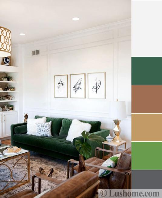 green color combinationsfor room decorating