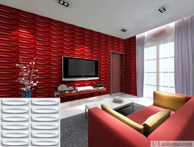3d Designs In Bright Colors Modern Wall Panels Show