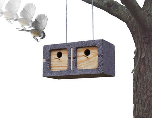 cinder block bird house