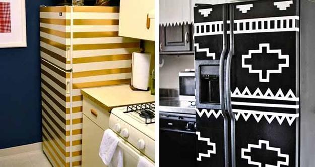 Creative Modern Ideas For Kitchen Cabinets And Fridge