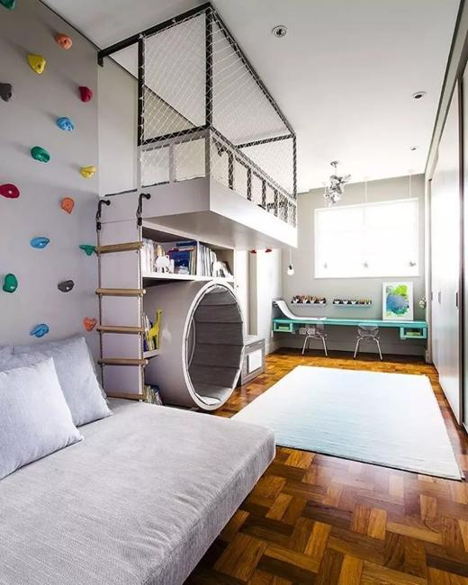 Fun Kids Rooms: Fabulous Play Gym Ideas Adding Fun To Kids Rooms