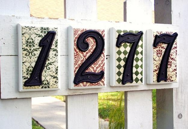 Original House Number Signs To Personalize Facade And Increase Curb Appeal