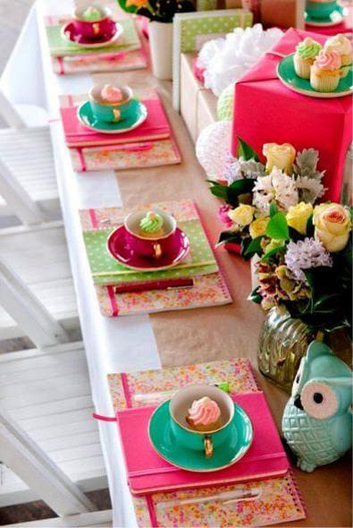 White Tableware Display