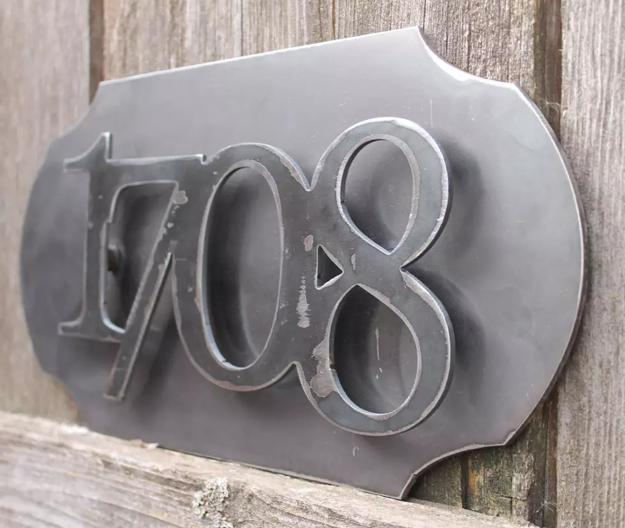 Elegant House Number Signs Showing Off Modern Metal Designs