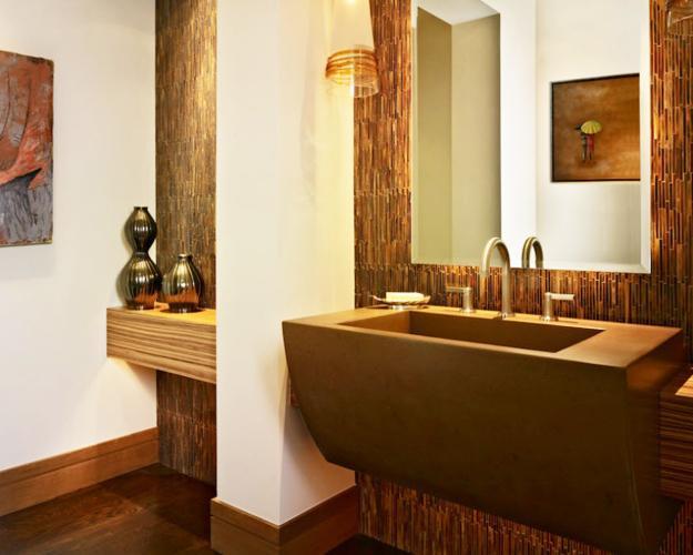 Modern Sink Vanity, Large Wall Mirror
