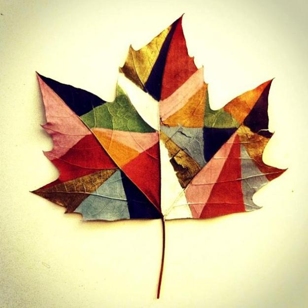 Art Ideas With Leaves: Bright Painting Ideas To Add Colorful Leaves Art To Fall