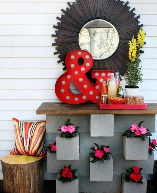 25 Creative Diy Home Decor Ideas You Should Try: 25 Concrete Block Ideas To Try And Enjoy Cheap DIY Outdoor