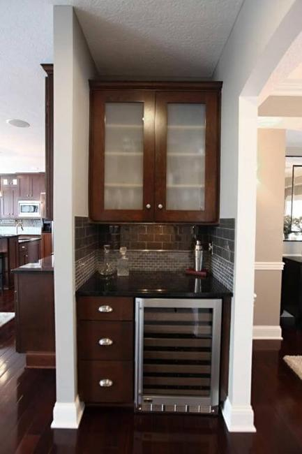 Small home bar ideas maximizing wall niche space - Home bar designs for small spaces ...
