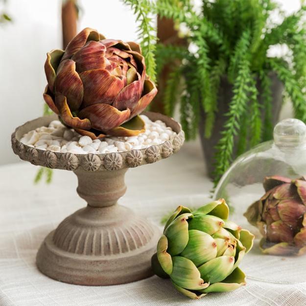 Green Thanksgiving Decorating 20 Artichoke Table